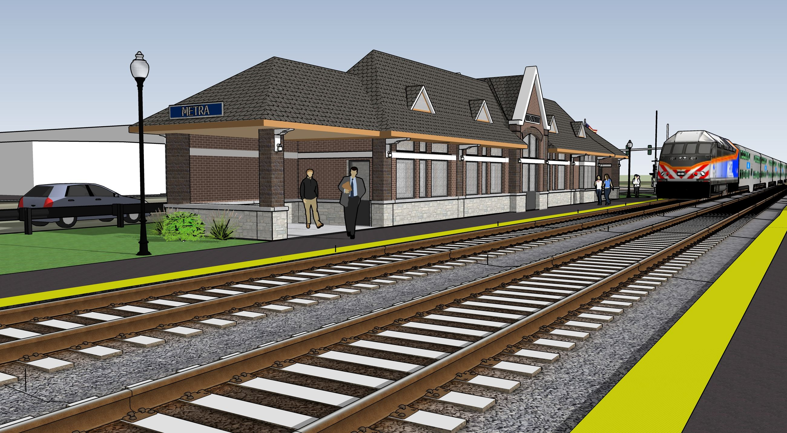 Cary Metra Station Rendering 1